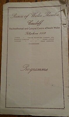VTG Prince of Wales Theatre Programme Cardiff 1952 Summer and Smoke Peter Sallis