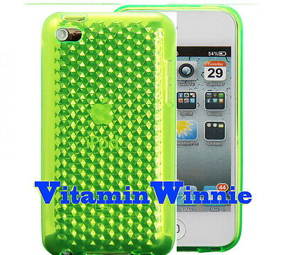 Soft Gel Case Cover for Apple ipod 4th 4 Green