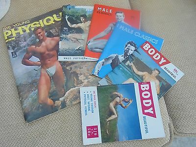 Vintage Male body building magazines 1960's x 6 collectors items