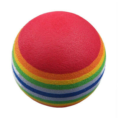 50pcs Golf Swing Training Aids Indoor Practice Sponge Foam Rainbow Balls X3U2