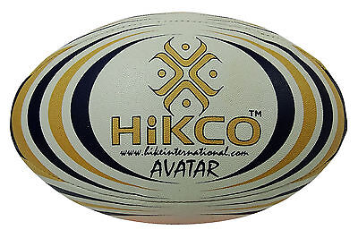 Hikco Hand Stitch Avatar PU Leather White Match Rugby Ball Size 5
