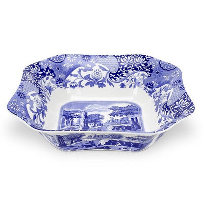 NEW Spode Blue Italian Square Salad Bowl Medium
