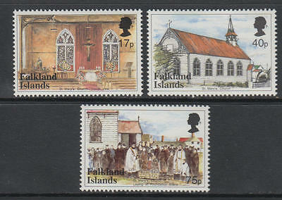 XG-U042 FALKLAND ISLANDS - Architecture, 1999 St Mary Catholic Church MNH Set