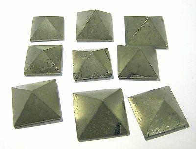 9 Golden Pyrite Loose Bagua Crystal Feng Shui Pyramids Gift Reiki Energy Psychic