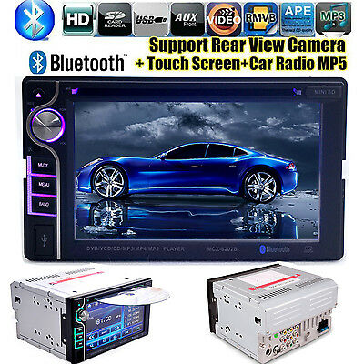 6.2'' 2 DIN Bluetooth Car Stereo Autoradio FM/MP5/USB/AUX/Touch Screen Headunit
