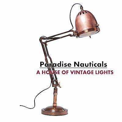 Vtg Floor Lamp, Nautical Searchlight Tripod Floor Lamps Search light Industrial.
