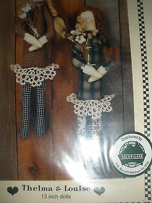Thelma and Louise Cloth Doll Pattern by Vanilla House