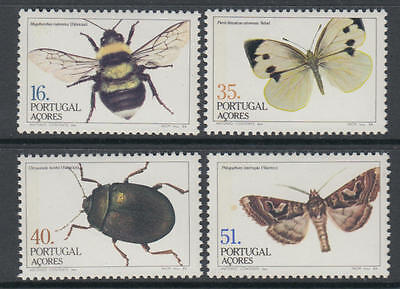XG-U392 AZORES - Butterflies, 1984 Insects, 4 Values MNH Set