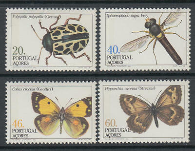 XG-U393 AZORES - Butterflies, 1985 Insects, 4 Values MNH Set