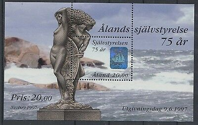 XG-U448 ALAND - Ships, 1997 Hologram, Sculpture MNH Sheet