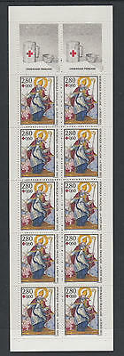 XG-U512 FRANCE - Red Cross, 1993 Paintings MNH Booklet