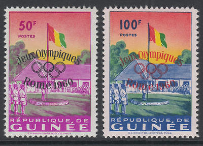 XG-I365 OLYMPIC GAMES - Guinea, 1960 Italy Rome '60 Overprints Postage MNH Set