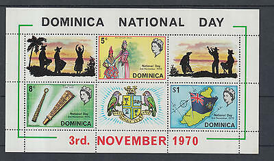 XG-I407 DOMINICA IND - Costumes, 1970 National Day MNH Sheet