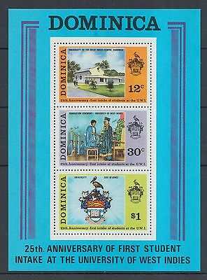 XG-I412 DOMINICA IND - Sheet, 1971 1St Student Intake At West Indies Univ. MNH