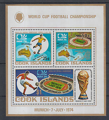 XG-I429 COOK ISLANDS IND - Football, 1974 Germany Munich '74 World Cup MNH Sheet