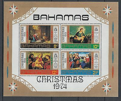 XG-I431 BAHAMAS IND - Paintings, 1974 Christmas, Previtali... MNH Sheet