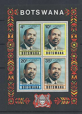 XG-I434 BOTSWANA - Sheet, 1975 10 Years Of Self Government, President Khama MNH