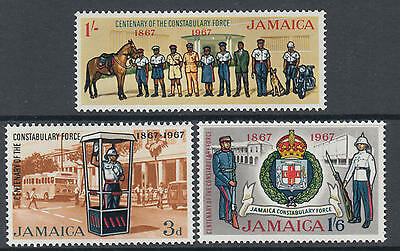 XG-I735 JAMAICA IND - Uniforms, 1967 Cent. Of Constabulary Forces MNH Set