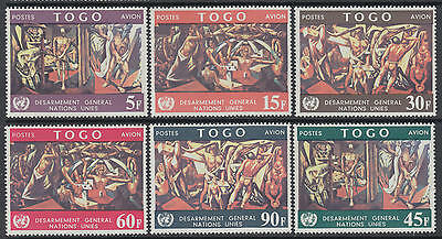 XG-I956 TOGO IND - United Nations, 1967 Paintings, General Disarmament MNH Set