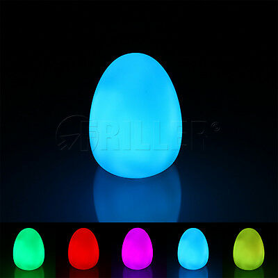 LED Multi Color Night Changing Mood Egg Home Room Decor Lamp Light w. Batteries
