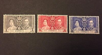 Cyprus 1937 Coronation set Mounted Mint