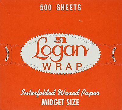 "6"" x 10 3/4"" Logan Wrap ""Midget"" - Sized Interfolded Deli Wrap Wax Paper 250"