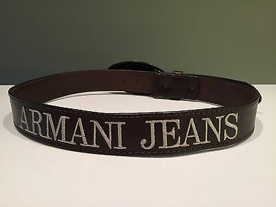 Womens Armani Jeans 100% Leather Belt Size 82-97 cm Made in ITALY!