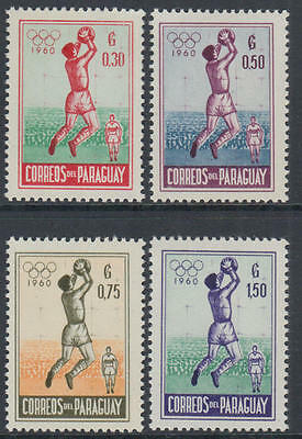 XG-J076 PARAGUAY - Olympic Games, 1960 Italy Rome '60, Postage MNH Set