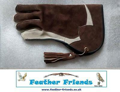 "Falconry Glove Brown 12"" Long 2 Ply Very Nice  ** NEW ** Harris Hawk Owl Redtail"