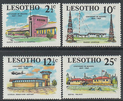 XG-J255 LESOTHO - Radio, 1969 Aviation, Royal Palace, Maseru Centenary MNH Set