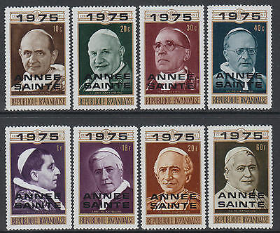 XG-J588 RWANDA - Popes, 1975 Holy Year Oveprrints MNH Set