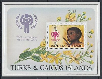 XG-J704 TURKS & CAICOS IND - Paintings, 1979 Intl. Year Of The Child MNH Sheet