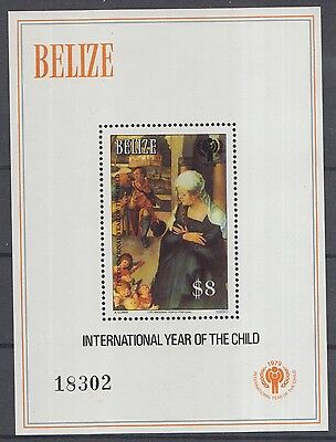 XG-K066 BELIZE - Unicef, 1980 International Year Of The Child MNH Sheet