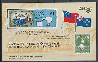 XG-K151 SAMOA I SISIFO - Stamp On Stamp, 1980 Zeapex '80, New Zealand MNH Sheet
