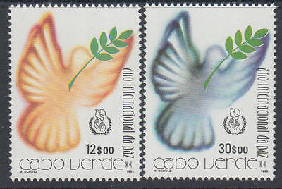 XG-K253 CAPE VERDE IND - Peace, 1986 International Year, 2 Values MNH Set