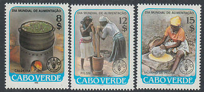 XG-K259 CAPE VERDE IND - Fao, 1986 World Alimentation Day, 3 Values MNH Set