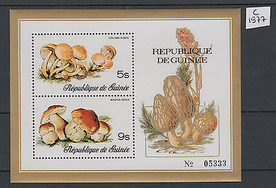 XG-V148 GUINEA - Mushrooms, 1977 2 Values MNH Sheet