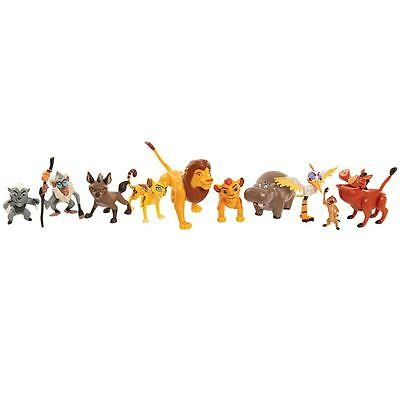 Lion Guard Deluxe Figure Set 10 poseable Lion Guard Character Figures New