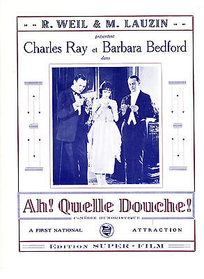 DP Ah! Quelle douche! 1922 Charles Ray Barbara Bedford first national