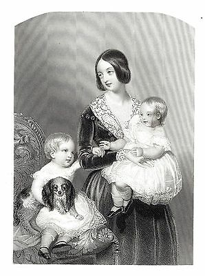 Queen Victoria with the Prince of Wales & Princess Royal - After Wm. Drummond