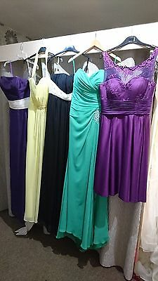 Job lot 5 x Excellent Bridesmaids/Evening/Prom dresses in size 10 12 16
