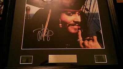 Jonny Depp Pirates Of The Caribbean Signed Framed limited edition photo display