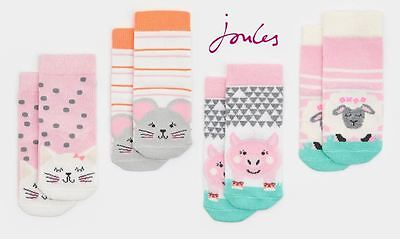Joules Baby Neat Feet Girls Bamboo Socks - Two Pack
