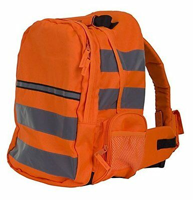 Hi Vis Cycling/Hiking Multipocket RUCKSACK Orange Work Bag-Safety Boot Storage