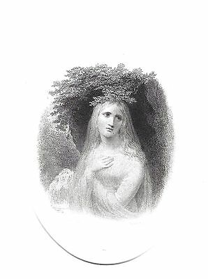 """""""The White Lady"""" (From The Monastery by Scott) Eng. after Henry Howard, R.A 1843"""