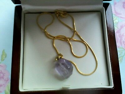 19*15MM  Beautiful Agate Amethyst pendant ,gold necklace