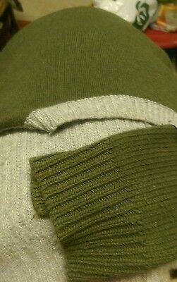 Woman's Country Road jumper. Light grey and army green.