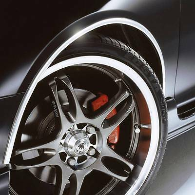 CHROME Effect Wheel Arch Arches Guard Protector for MINI