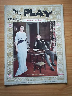 THE PLAY PICTORIAL Issue 141 Within the Law - Edith Goodall, E Lyall Sweete