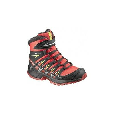 Chaussures Randonnee Salomon Xa Pro 3d Mid Winter Ts Cswp Junior Rouge